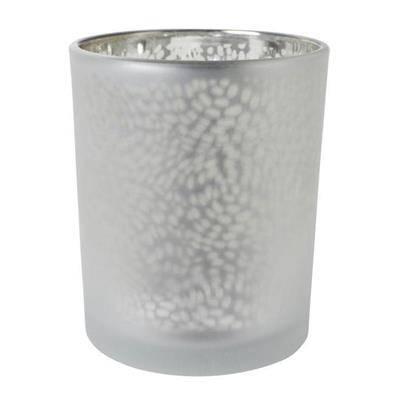 Billede af Lysestage, Duni Arctic, 7cm, Ø6cm, sølv, glas, metallic design *Denne vare tages ikke retur*