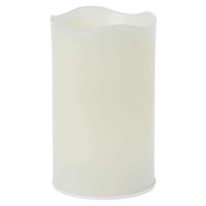 Image of   LED bloklys, Duni, 12,5cm, Ø7,5cm, varm hvid, 12 timer, voks, sæt á 4 stk. til indendørs brug *Denne vare tages ikke retur*