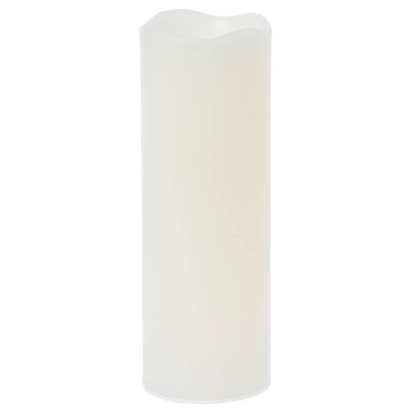 Image of   LED bloklys, Duni, 22cm, Ø7,5cm, varm hvid, 12 timer, plast, sæt á 4 stk. til indendørs brug *Denne vare tages ikke retur*