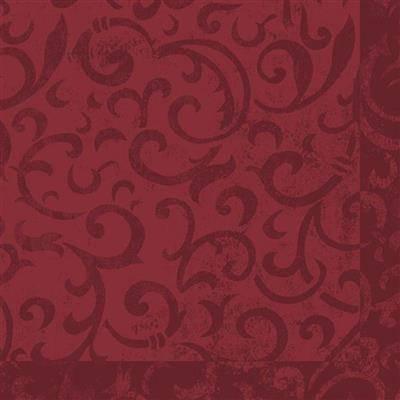 Image of   Middagsserviet, Dunilin Sarala, 1/4 fold, 40x40cm, bordeaux *Denne vare tages ikke retur*