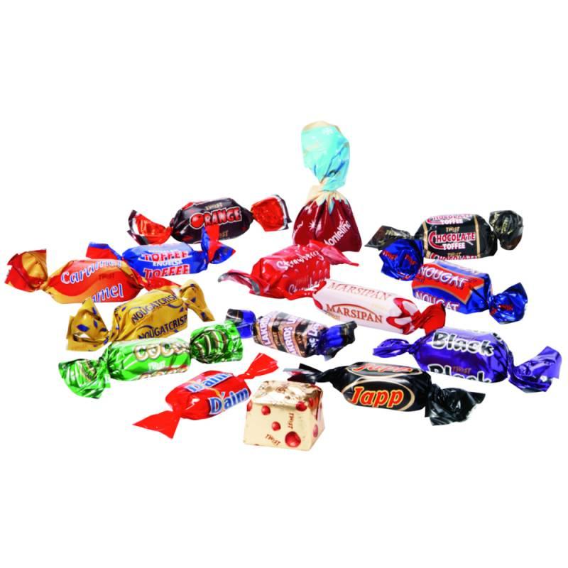Image of   Chokolade, Twist, bulk pack, ca. 71 stk. (ca. 500 gr.) *Denne vare tages ikke retur*