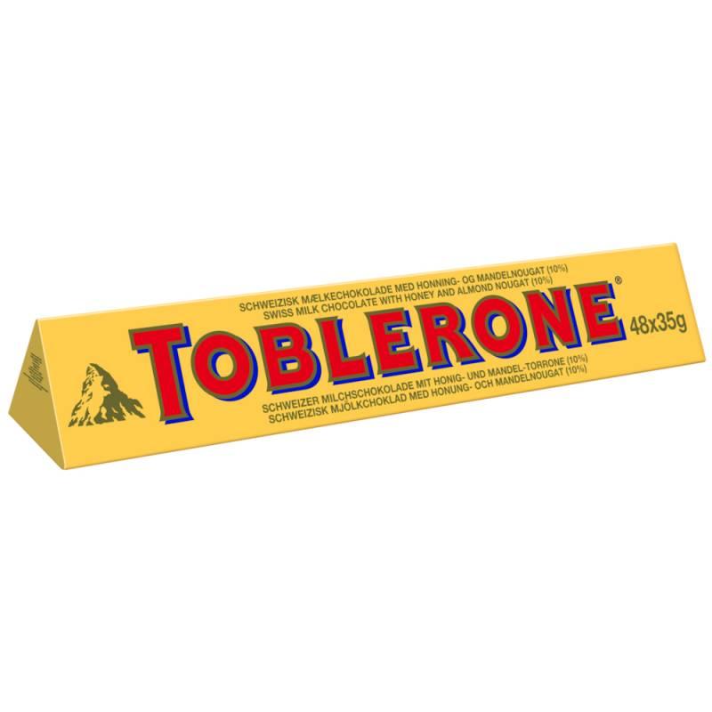 Image of   Chokolade, Toblerone XL, 48 x 35 g *Denne vare tages ikke retur*