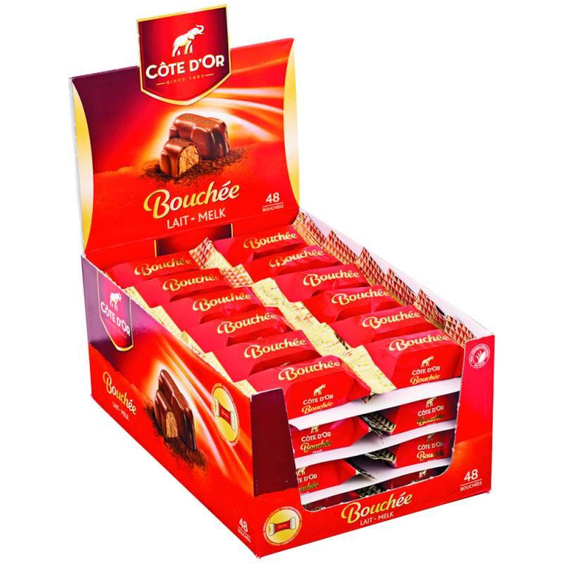 Image of   Chokolade, Côte D'or Bouchée, display, 48 stk. *Denne vare tages ikke retur*