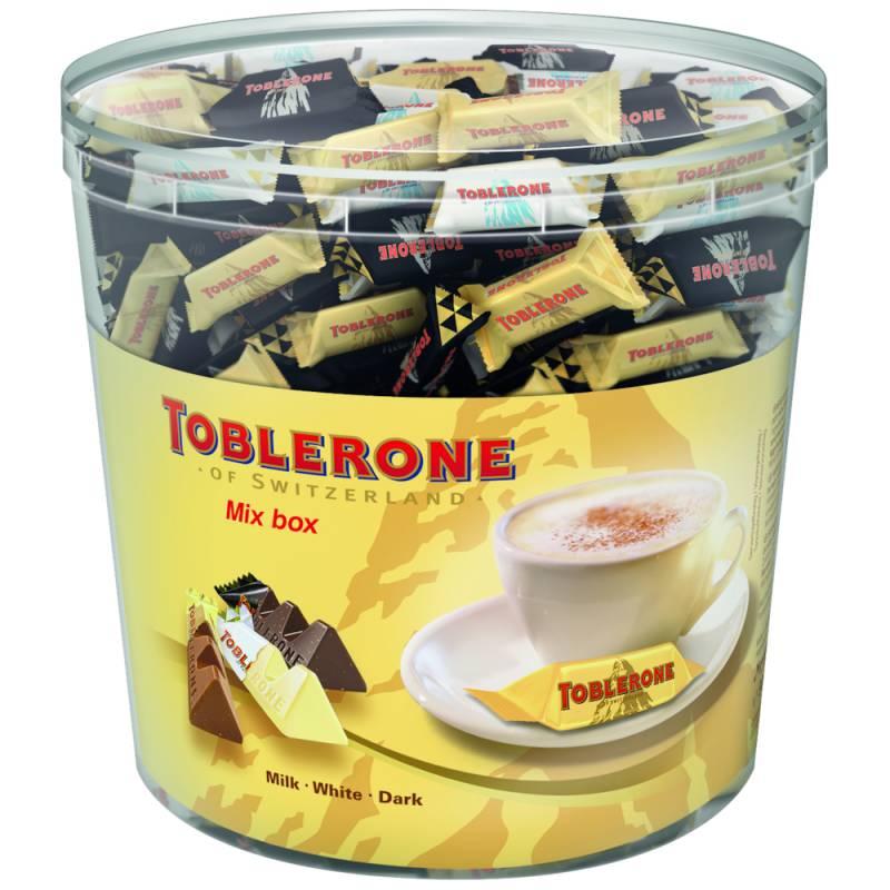 Image of   Chokolade, Toblerone Tiny mix, cylinder *Denne vare tages ikke retur*