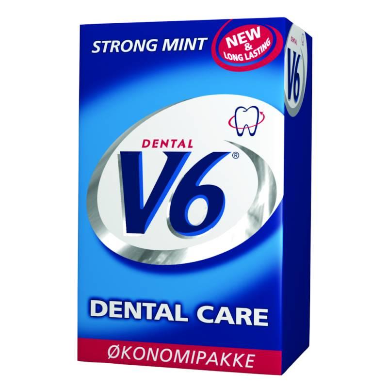 Image of   Tyggegummi, V6, Strong Mint, økonomipakke *Denne vare tages ikke retur*