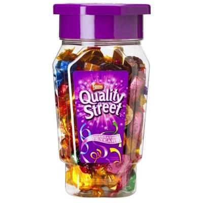 Image of   Chokolade, Nestlé Quality Street, cylinder med skruelåg *Denne vare tages ikke retur*