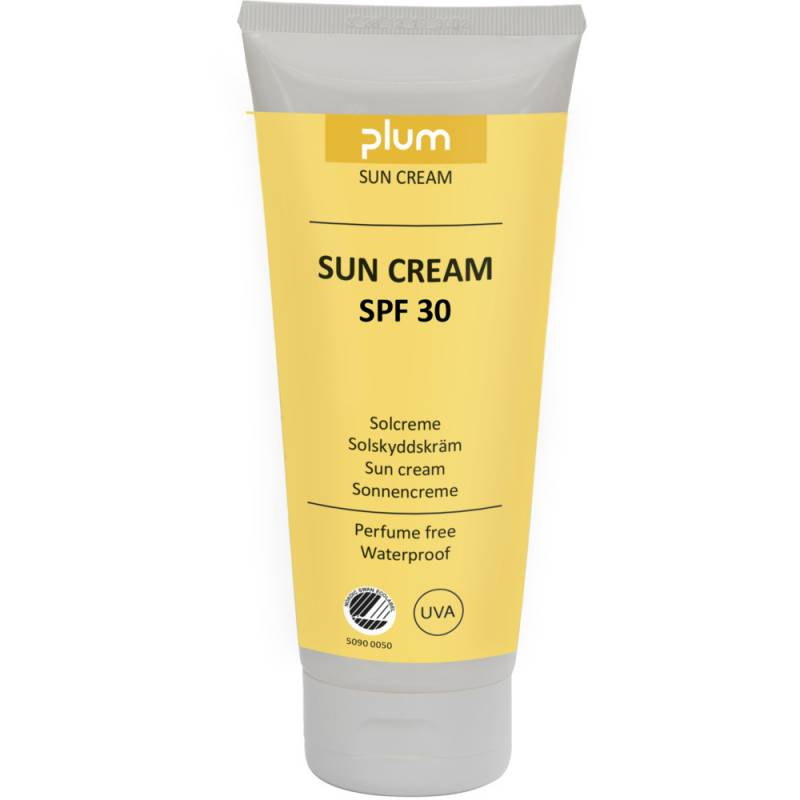Solcreme, Plum, 200 ml, uden farve og parfume, SPF 30, vandfast *Denne vare tages ikke retur*