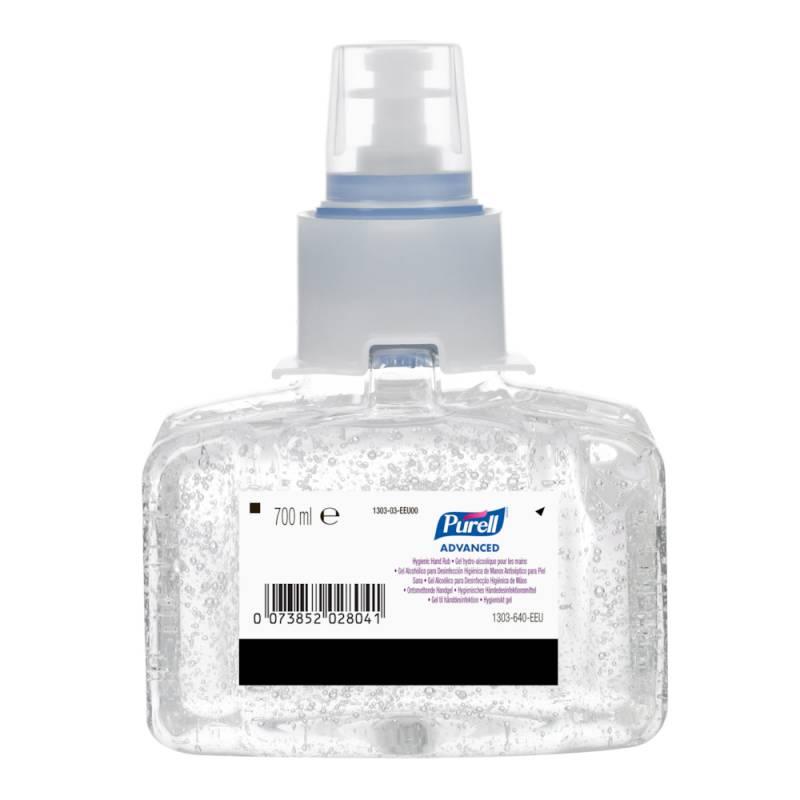 Image of   Hånddesinfektionsgel, Purell, 700 ml, 85% ethanol, refill til dispenser