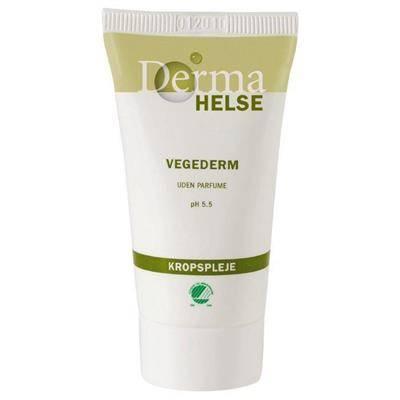 Hudcreme, Derma Helse Vegederm, 25 ml, uden farve og parfume, 16% fedt