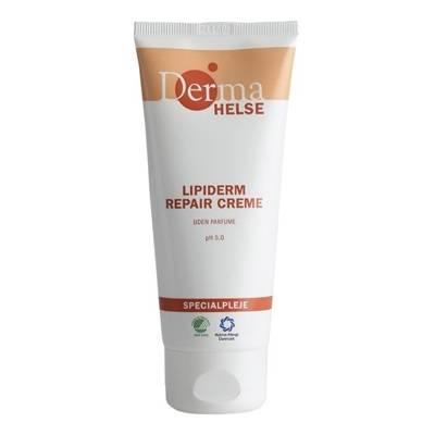 Hudcreme, Derma Helse Lipiderm Basic, 100 ml, uden farve og parfume, 44% fedt