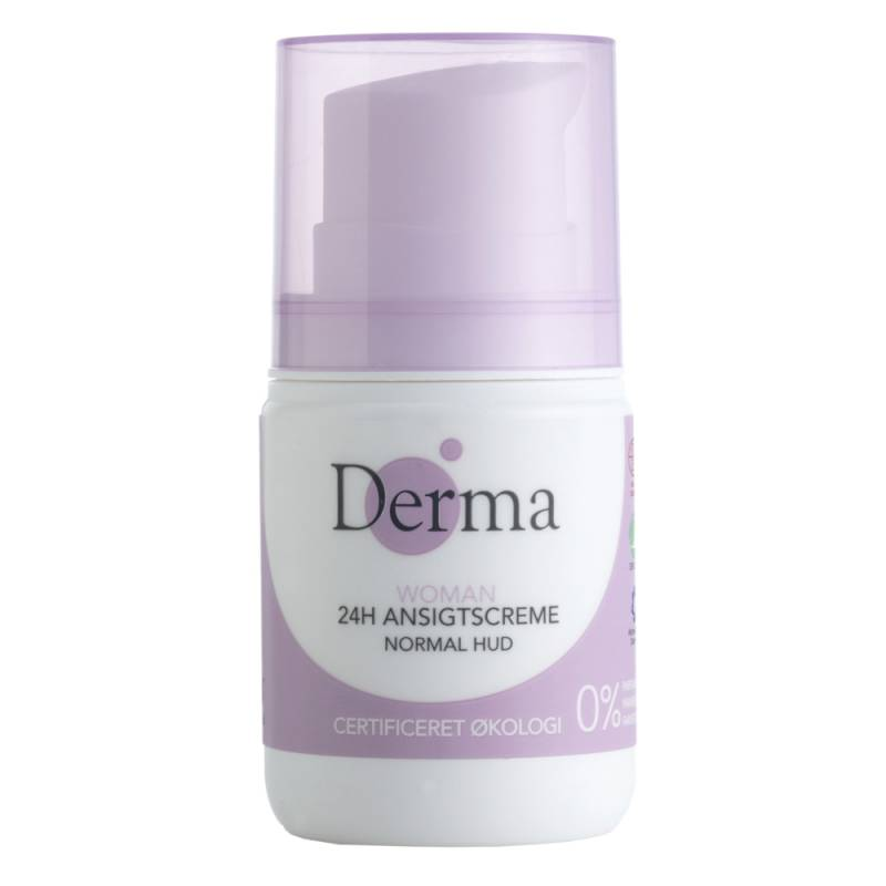 Image of 24h Ansigtscreme, Derma Eco Woman, 50 ml, uden farve og parfume *Denne vare tages ikke retur*