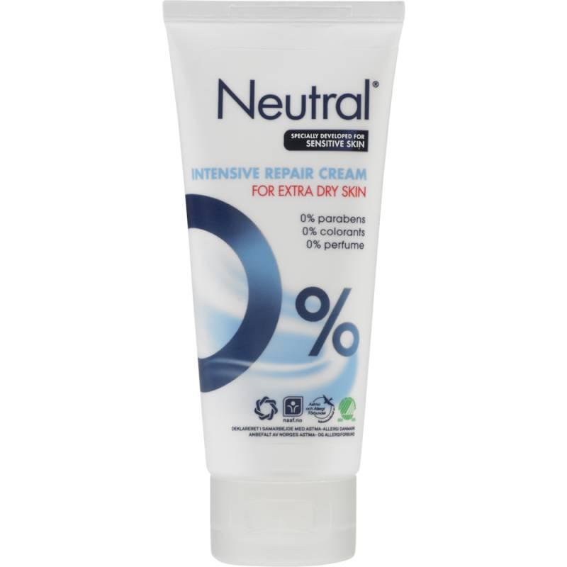 Fedtcreme, Neutral Intensive Repair, 100 ml, uden farve og parfume, 70% fedt