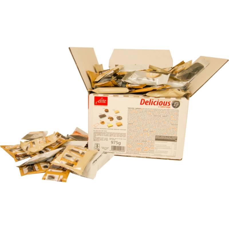 Image of   Småkager, Delicious mix, enkeltindpakket *Denne vare tages ikke retur*