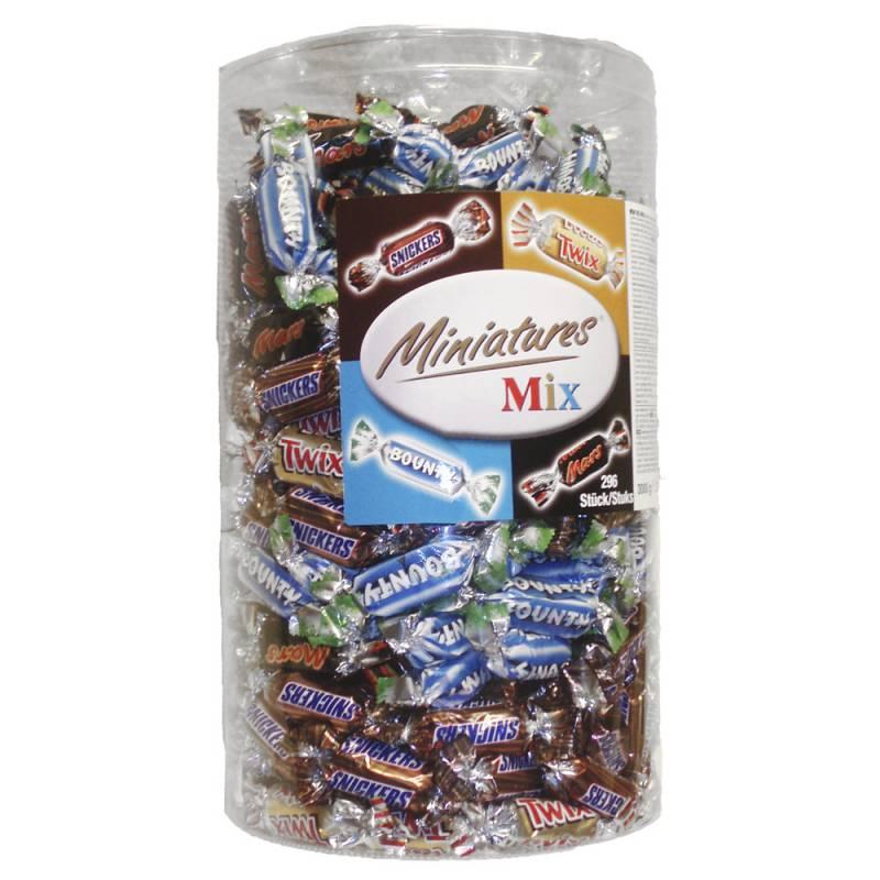 Image of   Chokolade, Mars Miniature Mix, cylinder, 3 x 3 kg