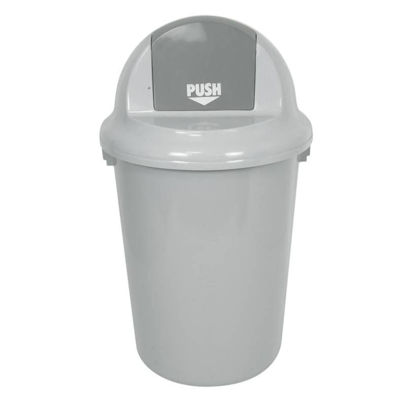 Affaldsspand, 90 l, grå