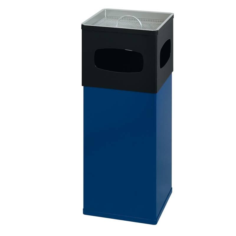Image of   Affaldsspand med askebæger, 50 l, blå *Denne vare tages ikke retur*