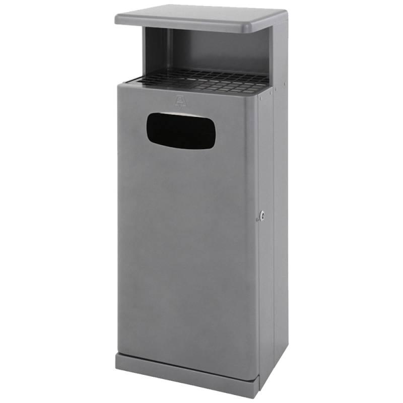 Udendørs affaldsspand med askebæger, 55 l, antracit *Denne vare tages ikke retur*