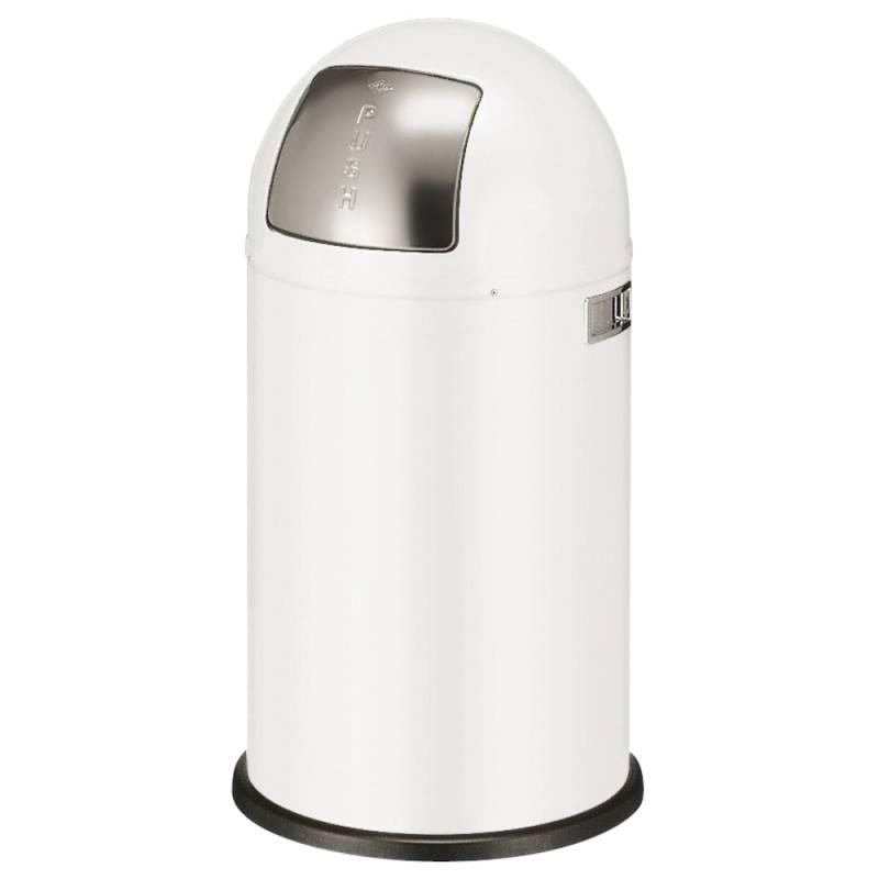 Image of   Affaldsspand, Wesco Pushboy, 50 l, hvid *Denne vare tages ikke retur*