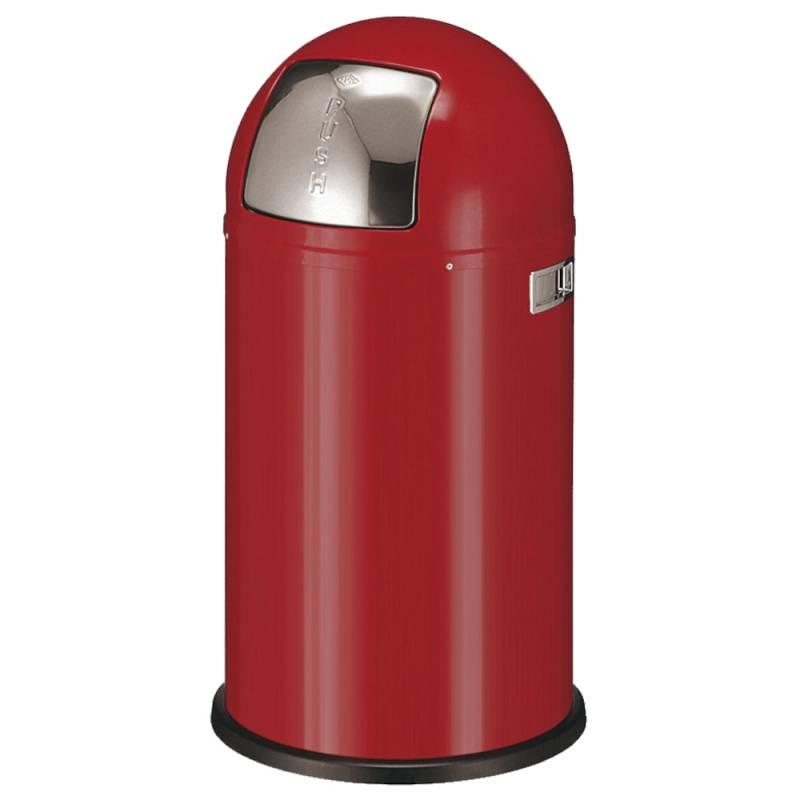 Image of   Affaldsspand, Wesco Pushboy, 50 l, rød *Denne vare tages ikke retur*