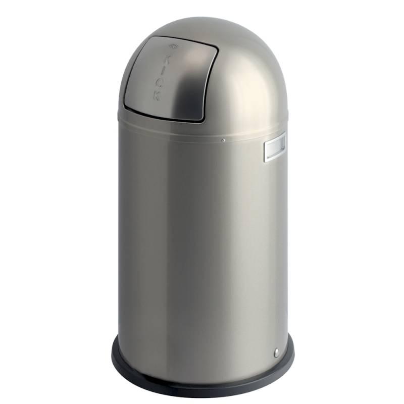 Image of   Affaldsspand, Wesco Pushboy, 50 l, sølv *Denne vare tages ikke retur*