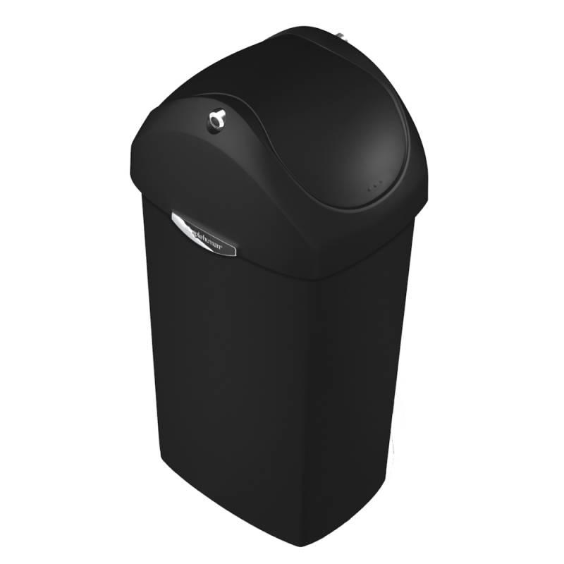 Affaldsspand, Simplehuman, 40 l, sort