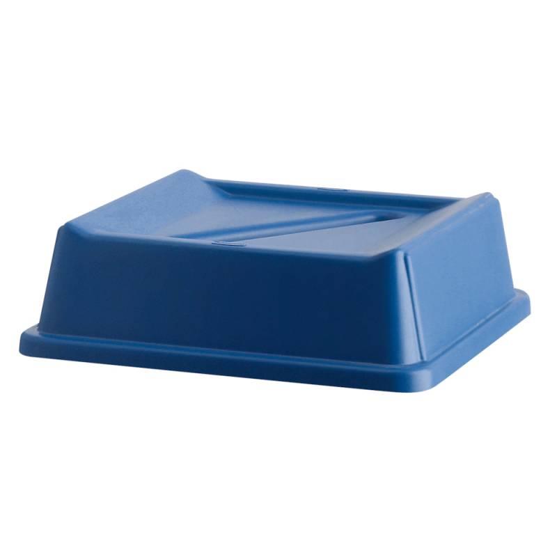 Image of   Låg, Rubbermaid, blå, med sliske til kildesortering af papir *Denne vare tages ikke retur*