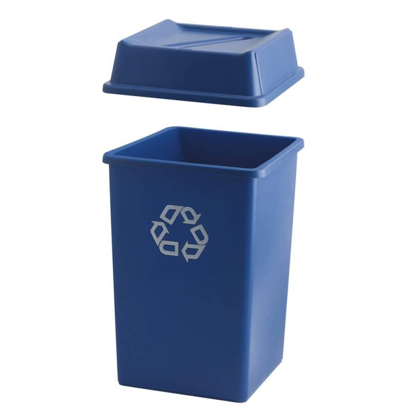 Image of   Affaldsspand, Rubbermaid, 132 l, blå *Denne vare tages ikke retur*