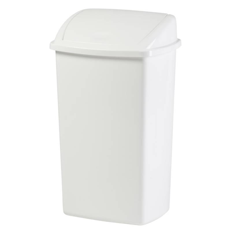 Image of   Affaldsspand, 30x40x68cm, 50 l, hvid, plast, med sving låg