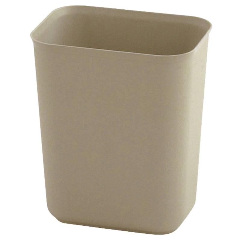 Image of   Papirkurv, Rubbermaid, 6,6 l, beige, brandsikker *Denne vare tages ikke retur*