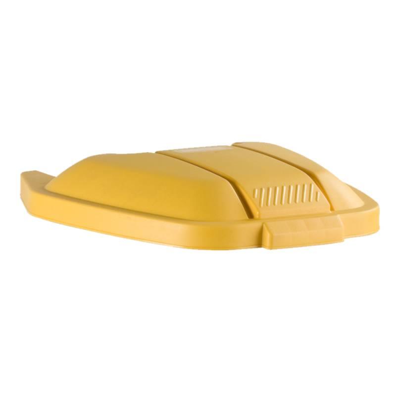 Image of   Låg, Rubbermaid, gul, til tohjulet container, til kildesortering *Denne vare tages ikke retur*