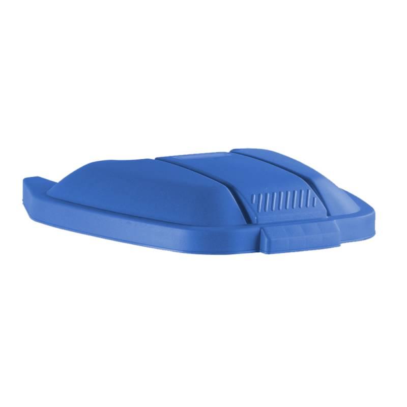 Image of   Låg, Rubbermaid, blå, til tohjulet container, til kildesortering *Denne vare tages ikke retur*