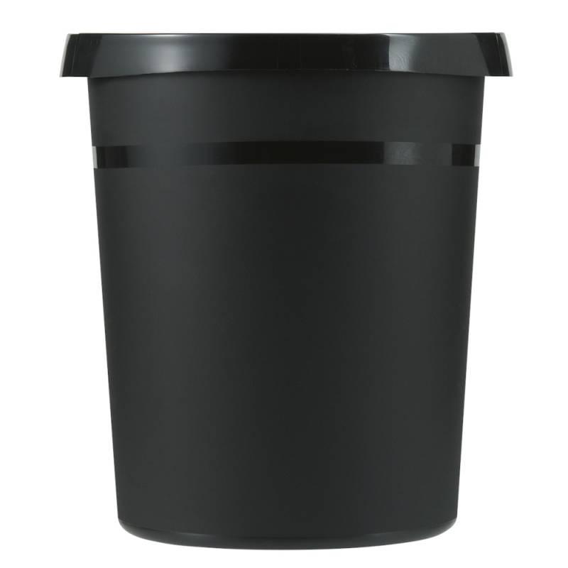 Image of   Papirkurv, 18 l, sort, kildesortering mulig