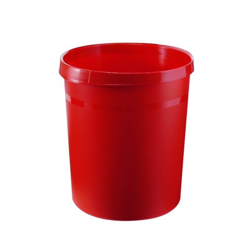 Image of   Papirkurv, 18 l, rød, kildesortering mulig