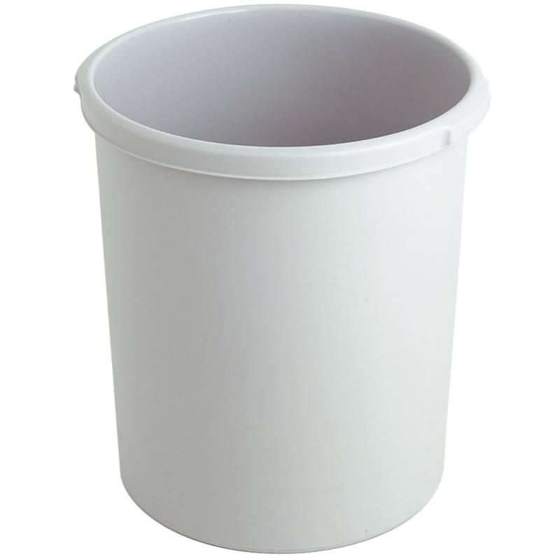Image of   Papirkurv, 30 l, grå, kildesortering mulig