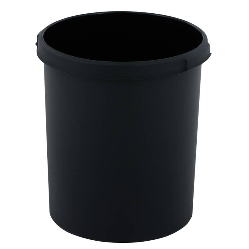 Papirkurv, 30 l, sort, kildesortering mulig