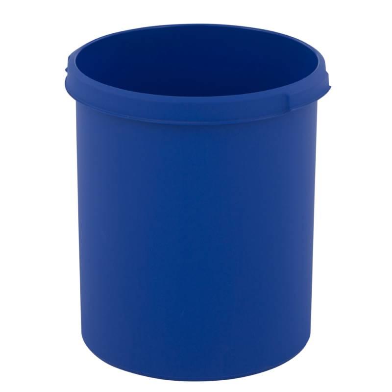 Papirkurv, 30 l, blå, kildesortering mulig *Denne vare tages ikke retur*