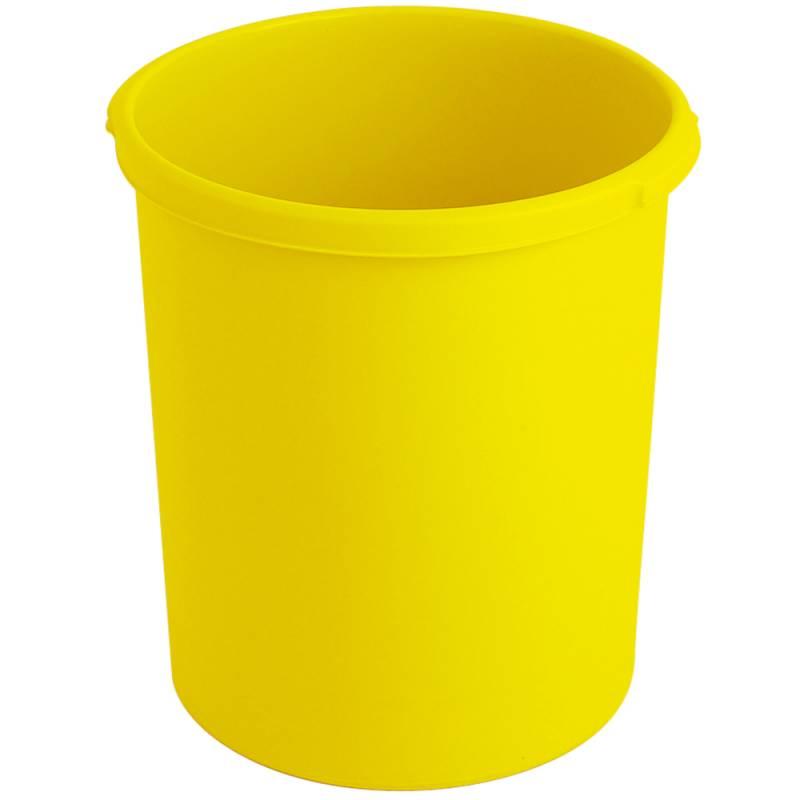 Papirkurv, 30 l, gul, kildesortering mulig *Denne vare tages ikke retur*
