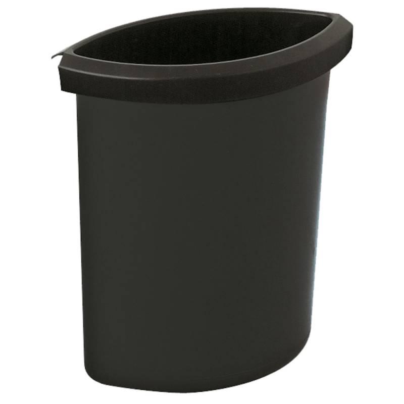 Indsats, 6 l, sort, til rund affaldsspand *Denne vare tages ikke retur*