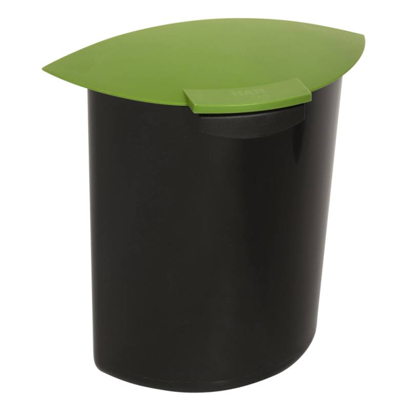 Indsats, 6 l, grøn, med låg, til rund affaldsspand *Denne vare tages ikke retur*