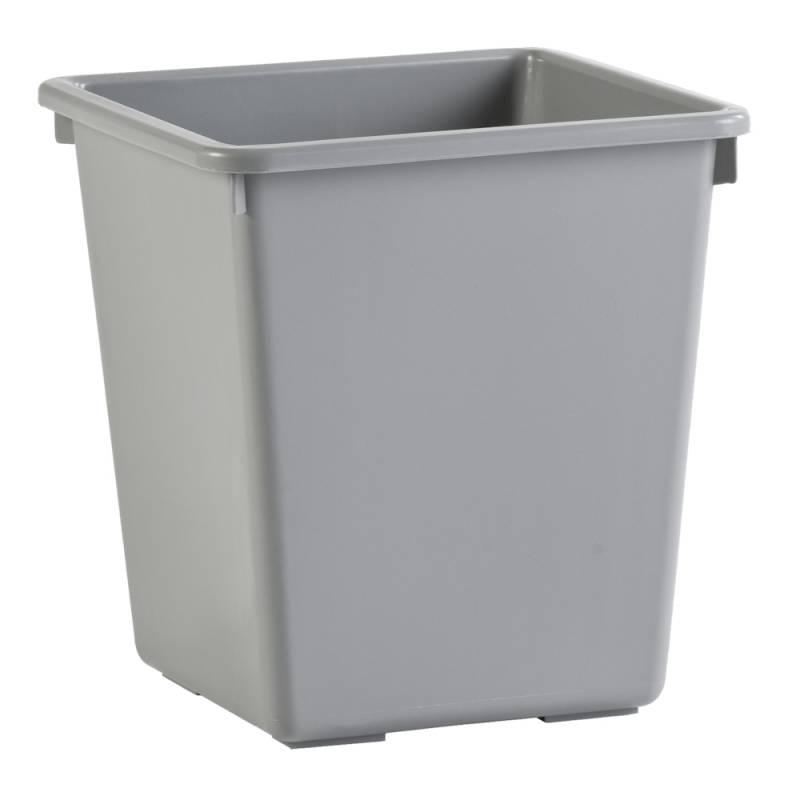 Papirkurv, 27 l, grå