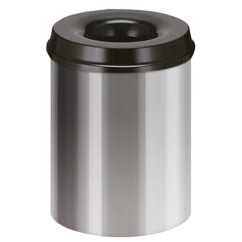 Image of   Brandhæmmende affaldsspand, 15 l, alu *Denne vare tages ikke retur*