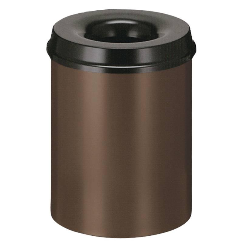 Image of   Brandhæmmende affaldsspand, 15 l, brun *Denne vare tages ikke retur*