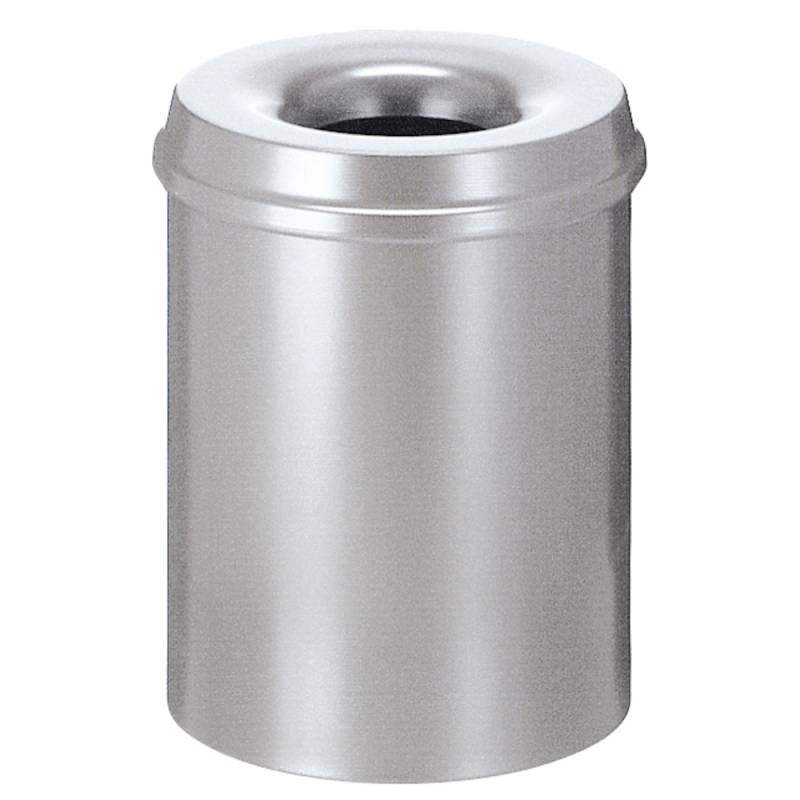 Image of   Brandhæmmende affaldsspand, 15 l, sølv *Denne vare tages ikke retur*