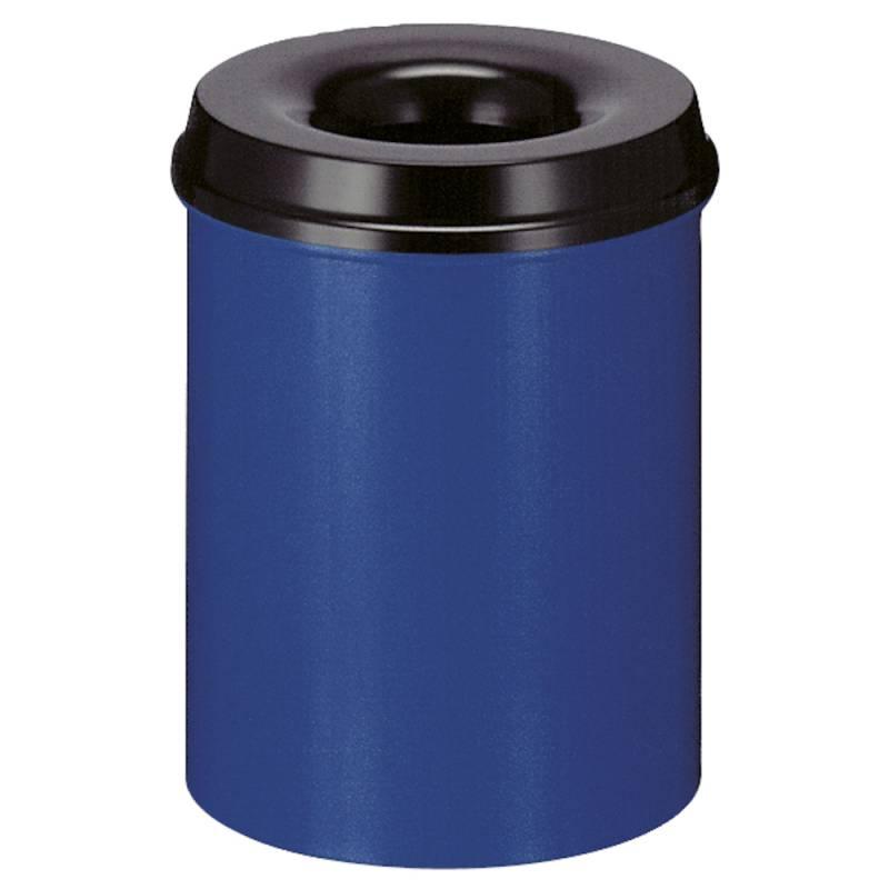 Image of   Brandhæmmende affaldsspand, 15 l, blå *Denne vare tages ikke retur*