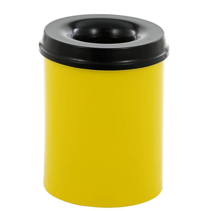 Image of   Brandhæmmende affaldsspand, 15 l, gul *Denne vare tages ikke retur*