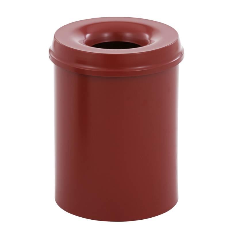 Image of   Brandhæmmende affaldsspand, 15 l, rød *Denne vare tages ikke retur*