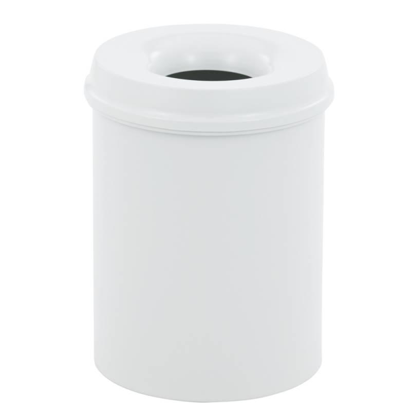 Image of   Brandhæmmende affaldsspand, 15 l, hvid *Denne vare tages ikke retur*