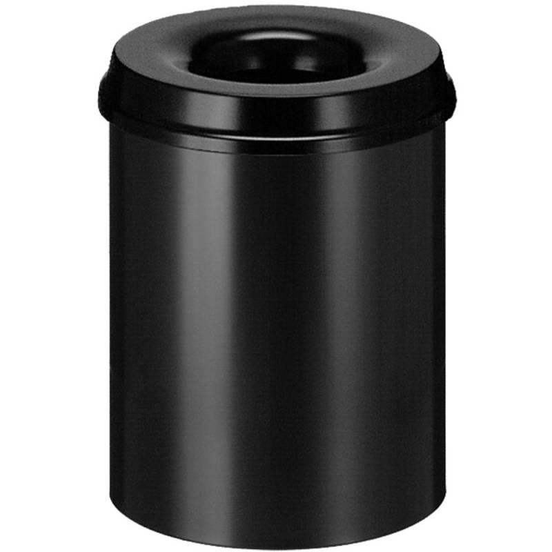 Image of   Brandhæmmende affaldsspand, 15 l, sort *Denne vare tages ikke retur*