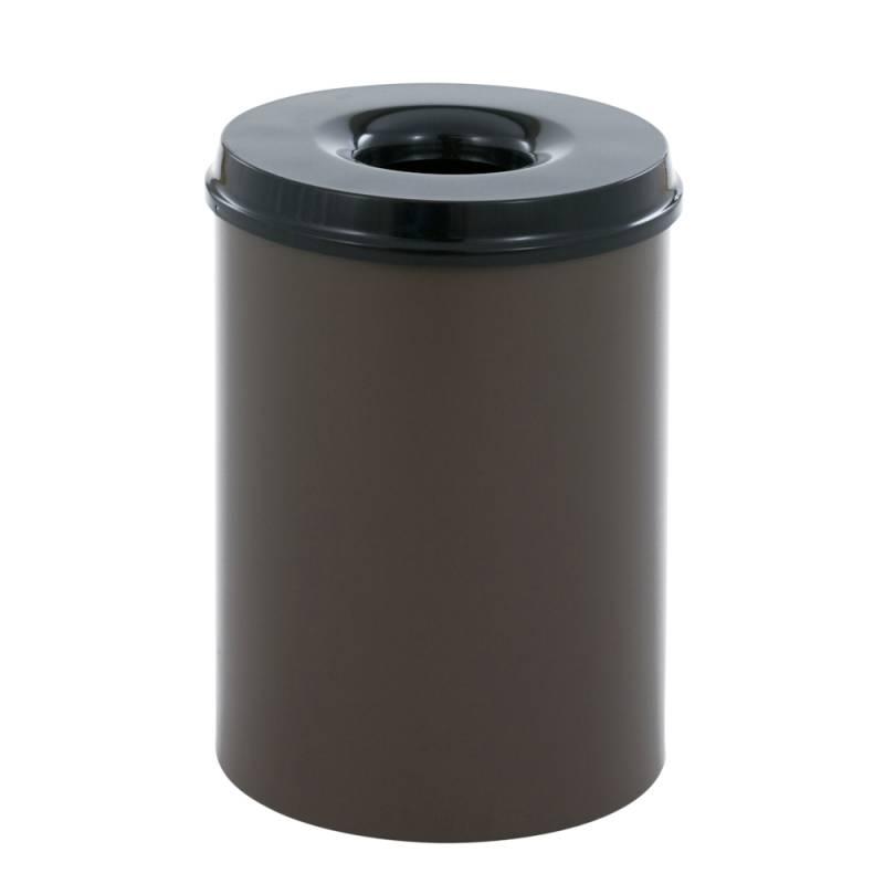 Image of   Brandhæmmende affaldsspand, 30 l, brun *Denne vare tages ikke retur*