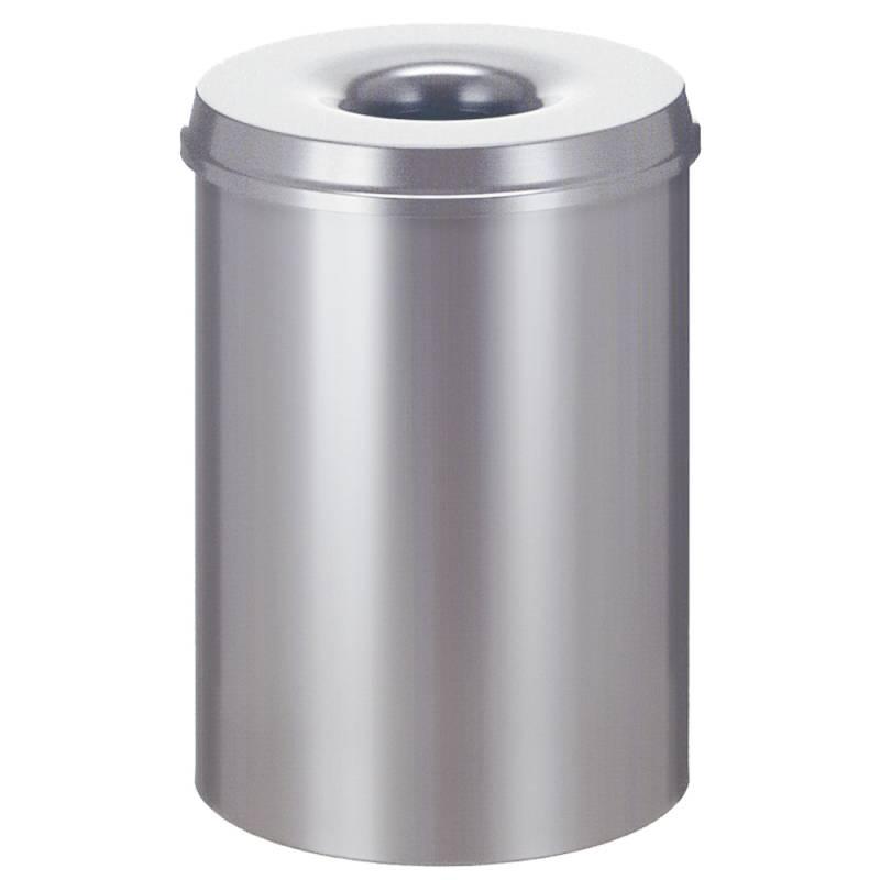 Image of   Brandhæmmende affaldsspand, 30 l, sølv *Denne vare tages ikke retur*